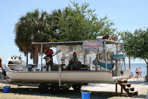 Local Band Playing Cedar Key, FL